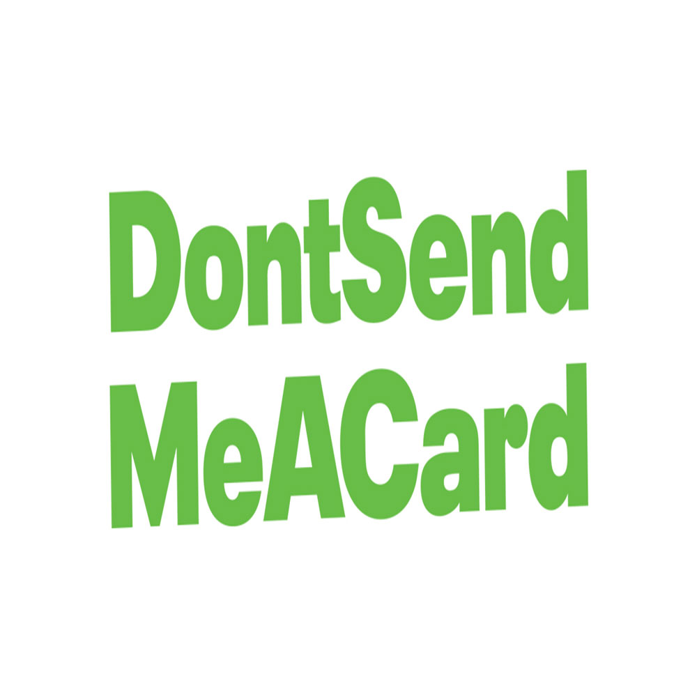 Don't send me a card.com logo image
